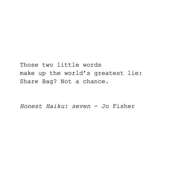 Honest Haiku - seven - jo fisher writes