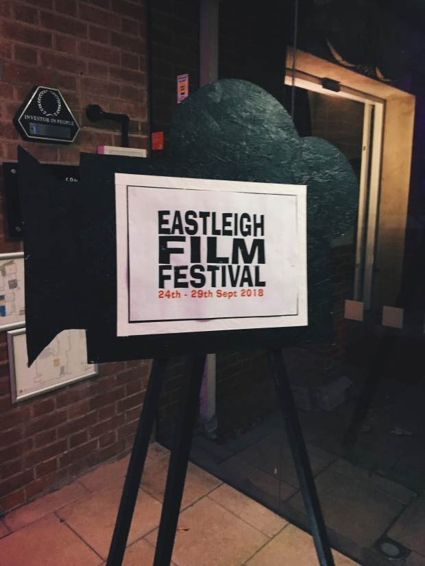 A sign for eastleigh film festival 2018