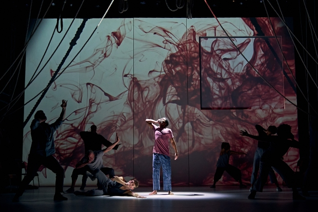 Ammar Duffus (Conor) and the ensemble of A Monster Calls UK Tour. Photo credit Manuel Harlan.