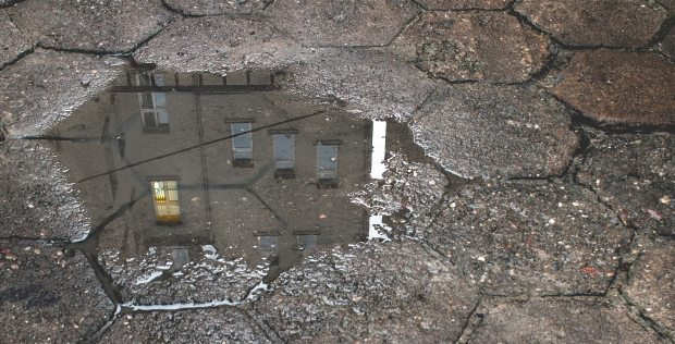 A puddle on the street