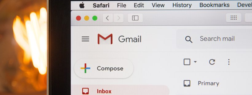 A close up of a Gmail inbox